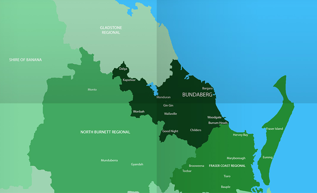 Asbestos Watch Bundaberg - location map