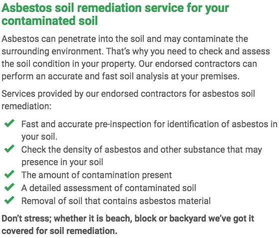 Asbestos Watch Bundaberg - soil remediation right